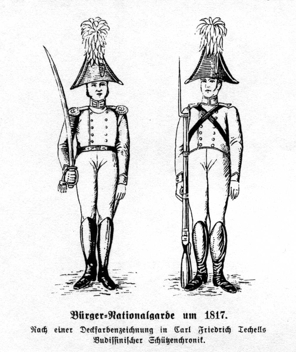 Bürger-Nationalgarde um 1817